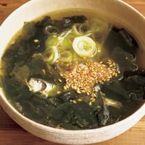 炒めわかめスープ
