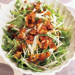 大根と水菜の玉ドレサラダ