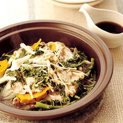 豚肉と冬野菜のレンジ蒸し