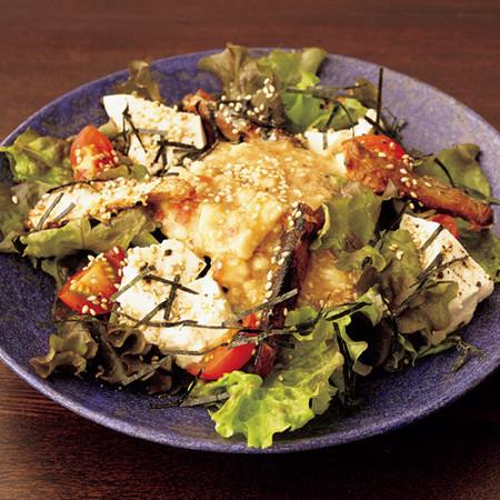 豆腐とさんまの居酒屋風サラダ