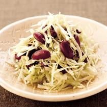キャベツと豆のサラダ
