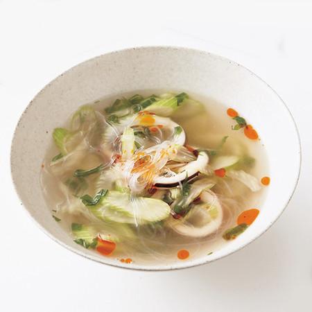 いかの酸辣湯(サンラータン)スープ