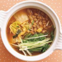 納豆キムチスープ
