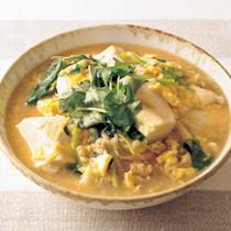 とろみ豆腐の卵とじ