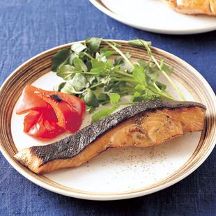 鮭のオイスター照り焼き