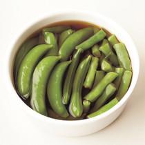 緑の豆のめんつゆづけ