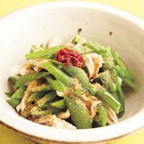緑の豆とささ身のナムル
