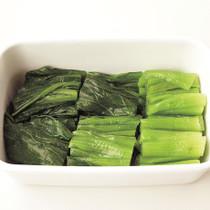 小松菜の塩ゆで