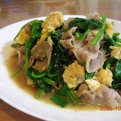 青菜&タマゴのスタミナ炒め
