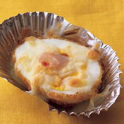 ゆで卵フライのチーズ焼き