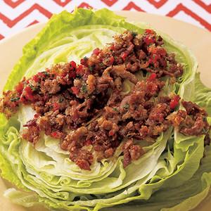 レタスのカリカリポークサラダ