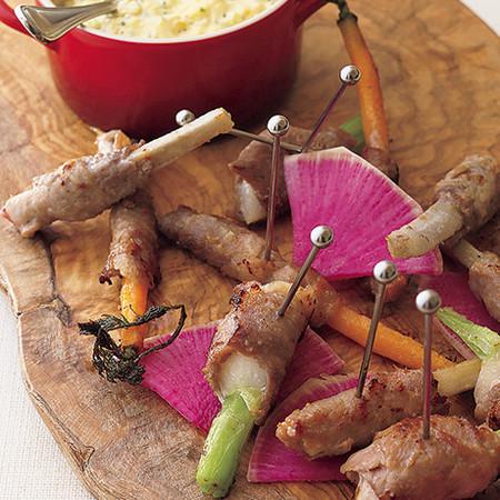 いろいろ野菜の豚肉巻き