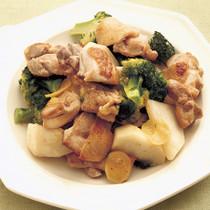 とり肉とブロッコリーの中華炒め