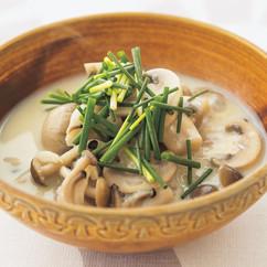きのこと豆乳のスープ