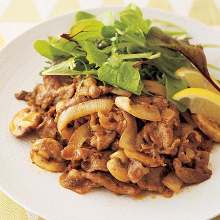 豚肉と玉ねぎのケチャップ炒め