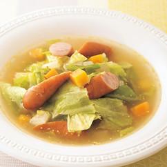 ソーセージと春キャベツのスープ煮