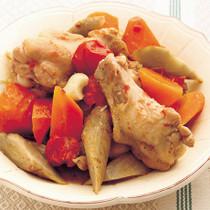 手羽元と根菜のラタトゥイユ風