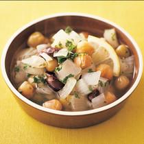 豆のホットサラダ
