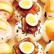 うなぎとうずらの卵のおにぎり