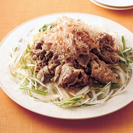 オニオンスライス牛肉炒めのせ