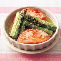 アスパラとトマトのチーズ焼き
