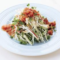 香味野菜のトマトごまポンサラダ