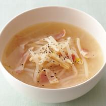 もやしと新玉のスープ