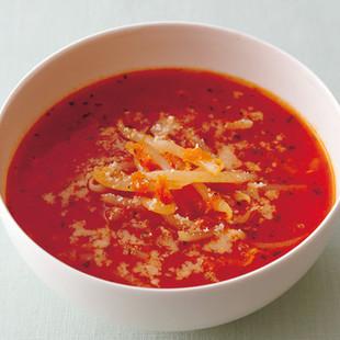 もやしとおろしにんじんのスープ