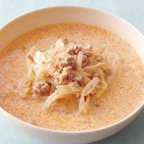 もやしのピリ辛豆乳スープ