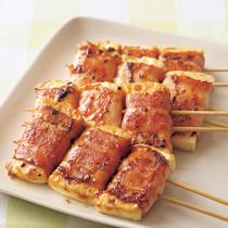 豆腐のベーコン巻き串