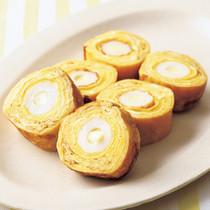チーズちくわのロール卵焼き