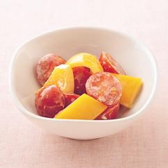 トマトとパプリカのマヨポンあえ