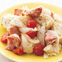 ランチョンミートと豆腐の塩チャンプルー