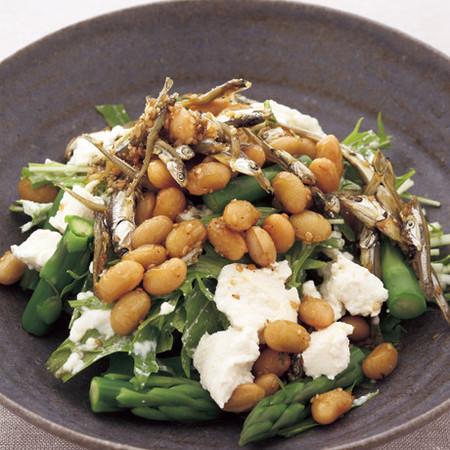 豆腐と甘酢豆のサラダ