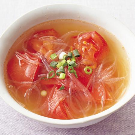 トマトとはるさめの中華スープ