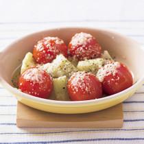 ミニトマトの粉チーズ焼き