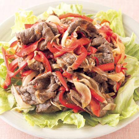 牛肉の中華風炒めサラダ