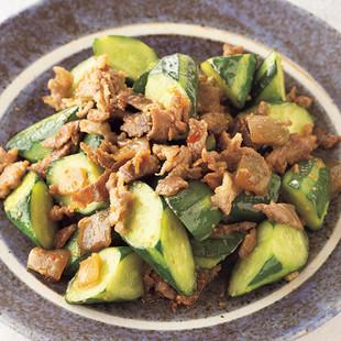 豚肉ときゅうりのザーサイ炒め