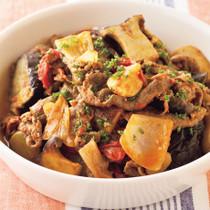 牛肉と夏野菜のトマト煮