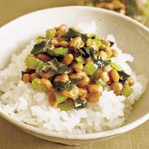 野沢菜納豆ご飯