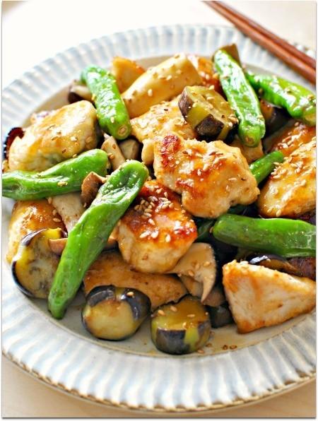 鶏肉と夏野菜の簡単甘酢あんかけ