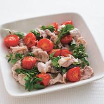 ソフトトマトと豚しゃぶのサラダ