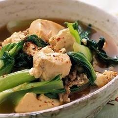 青菜たっぷり肉豆腐