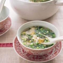 ねぎと豆腐のスープ