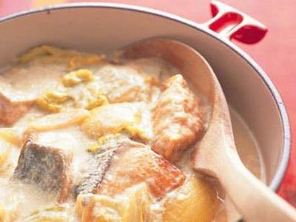 白菜の豆乳シチュー