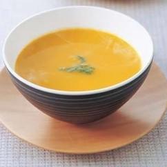 白みそ仕立てのかぼちゃスープ