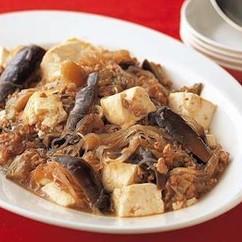 マーボーなす春雨豆腐