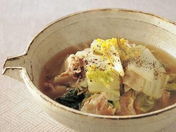 白菜と豚バラ肉の煮物