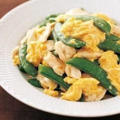 スナップえんどうの卵炒め