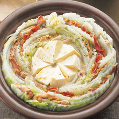 白菜と豚肉のチーズ鍋